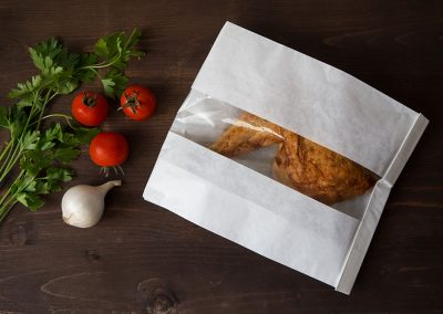 Paper-bag for meat with window /thermal S